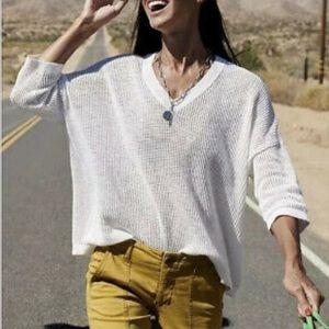 CAbi Breeze Three-Quarter Sleeve Knit Sweater